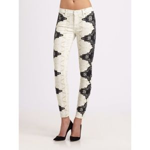 7 For All Mankind Side Lace Illusion Skinny Jeans